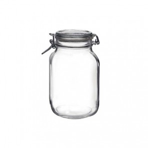 Square clear canning jar 2 L