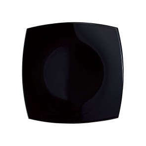 "Deep square plate 7,8""/20cm black - Singly sold"