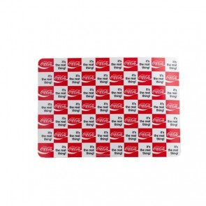 "Coca Cola PVC table mat 43x30cm / 16.9""x 11.8"" - Red and white checkerboard"