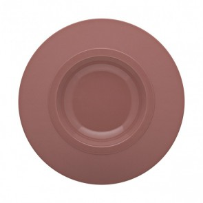 "Sandstone round pasta plate 10"" / 26cm pink - singly sold"