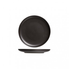 "Round flat plate 7"" / 19cm black - Singly sold"
