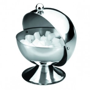 "Ball shape stainless steel sugar pot 5"" / 13cm - AZ boutique"