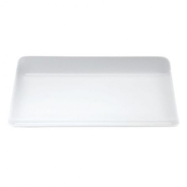 "Rectangular porcelain plate 8"" / 21.5cm x 8"" / 16cm white - Pillivuyt"