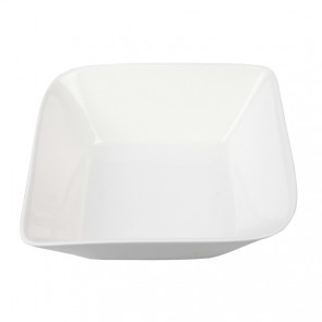 "White porcelain deep plate 6""/15cm - Singly sold"