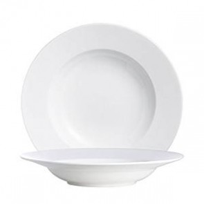 "Porcelain round deep plate 10"" / 25cm white"