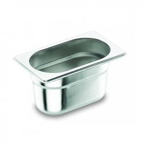 "Stainless steel 18/10 gastronorm container GN 1/3 17.6x 32.5 x 2cm/6.6"" x 12.6"" x 0.8"" - Lacor"