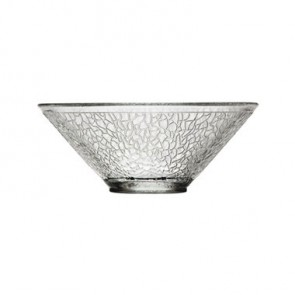 Crackled glass salad bowl 33cl - Sold by 6