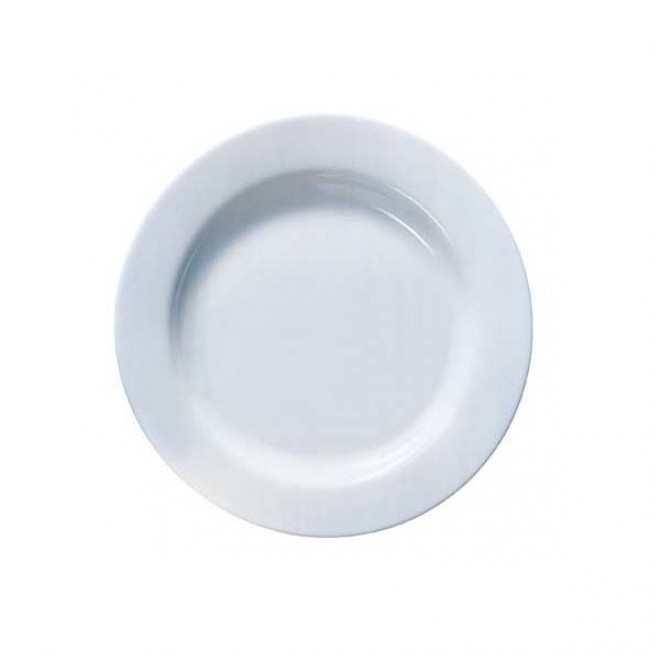 "Round dessert plate white 7.6"" / 19,5 cm - Sold by 6"
