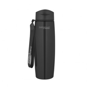 Stainless steel insulated mug with strap 50cl / 17oz black