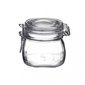 Square clear canning jar 50cl