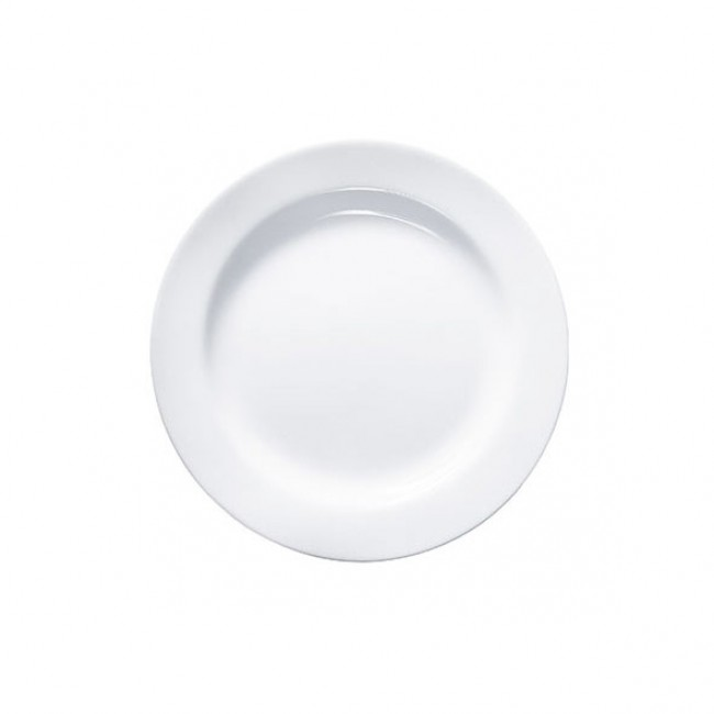"Round white plate  9.4"" / 24 cm - Sold by 6"