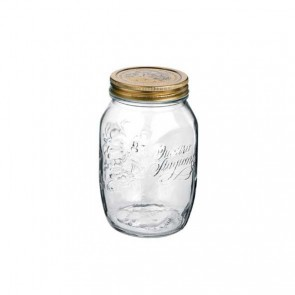 Canning jar 1 L with lid 86mm - Set of 12