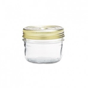 Glass terrine jar 7oz / 200g with 82mm screw lid