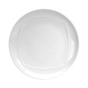 "Round dessert plate white 8"" / 22cm - Set of 6"