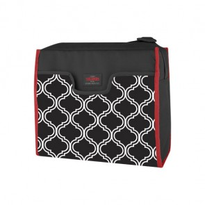 Insulated rectangular lunch kit 270oz / 8L black and white