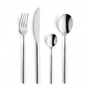 Dessert fork - 3mm thick 18/0 stainless steel - Set of 6 - Carlton - Amefa
