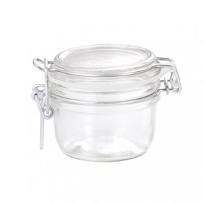 Round clear canning jar 12.5cl