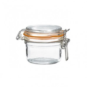 Glass terrine jar 4oz / 125g with 70mm airtight gasket