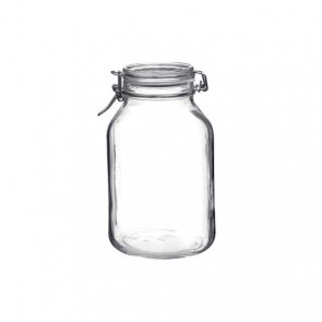 Square clear canning jar 3 L