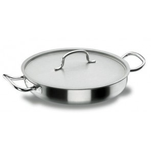 Marmite braisière basse à couvercle - faitout induction en inox 18/10 - Ø 20 cm - Chef Classic - Lacor