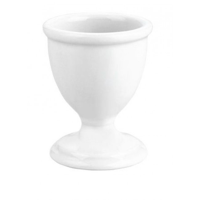 Traditional porcelain footed egg cup 1oz / 4cl white