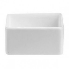 "Porcelain white square 2oz / 6cl bowl 2"" x 2"" (6x6cm)"