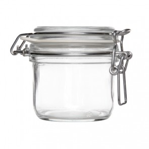 Round clear canning jar 20cl