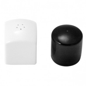 Salt & Pepper set Modulo Guy Degrenne white and black - Singly sold