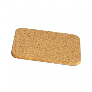 Plate mat square 19cm x 19cm in cork - set of 3