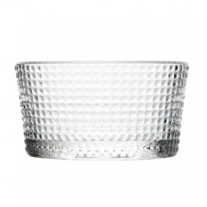 """Round glass cup 4.33"""" / 11.95cm - Set of 6"""