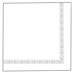 Serviette double point - modèle plus 39x 39cm - blanc tissue - Lot de 100 - Serviettes - AZ boutique