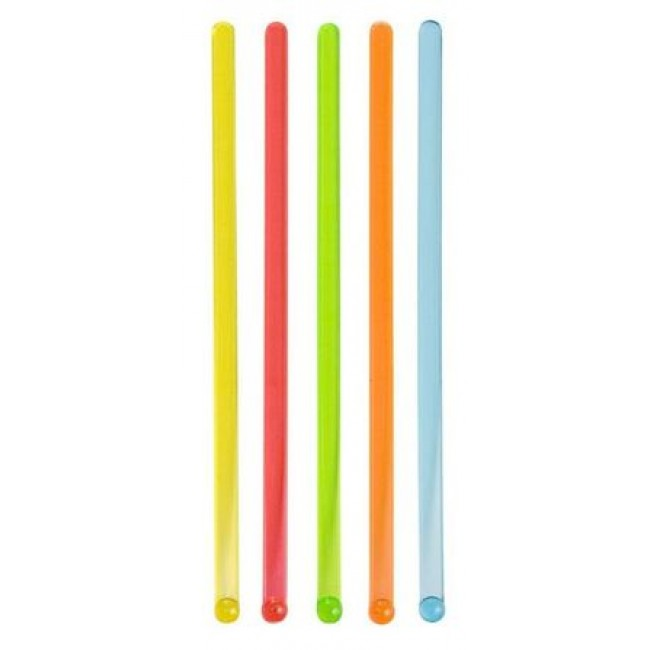 Eco-friendly reusable multi-coloured stirrers x 500