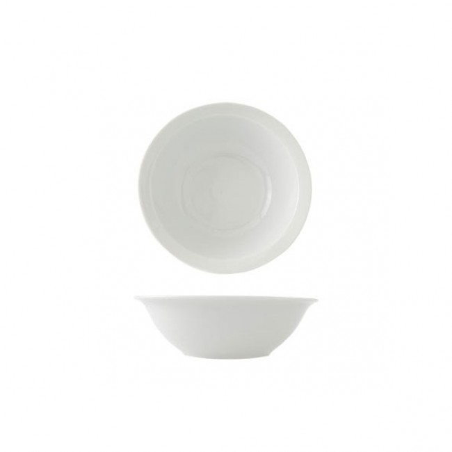 "White round porcelain cup 5.5 "" / 14 cm"