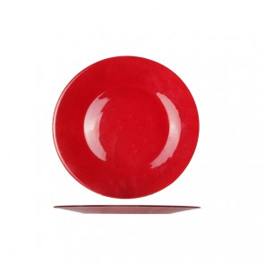 "Round presentation plate 12"" / 31cm red - singly sold"