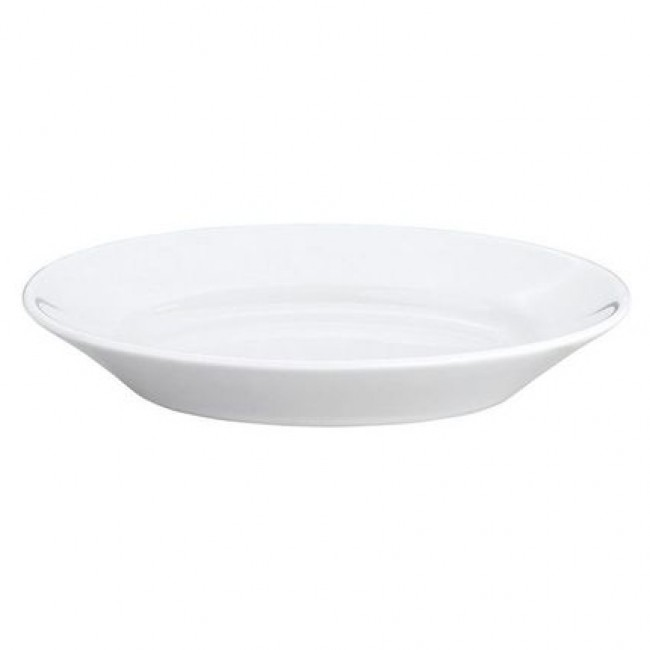 "Oval serving porcelain platter 8"" / 20cm x 5"" / 13.5cm white"