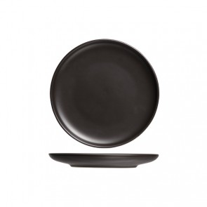 "Round flat plate 12"" / 31.5cm black - Singly sold"