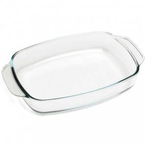 Rectangular glass oven dish 33.5 x 21.5cm / 13 x 8.3""