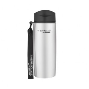Stainless steel insulated mug with strap 35cl / 12oz