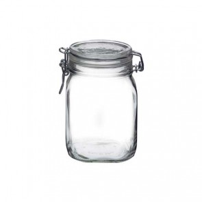Square clear canning jar 1 L