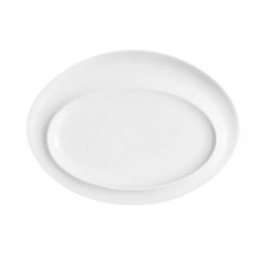 "Porcelain oval plate 11""x8"" (28x21cm) white"