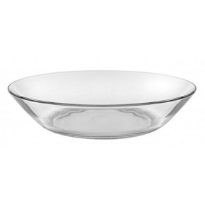 "Round transparent shallow plate 8"" / 21cm - Set of 6"