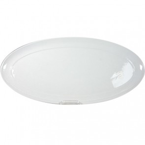 """Oval catering dish 25x12"""" / 64x31.3cm white"""