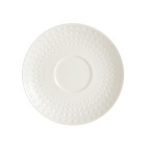 """Porcelain round breakfast saucer 6"""" / 16.5cm with square geometric patterns"""