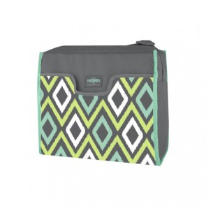 Insulated rectangular lunch kit 270oz / 8L grey and green
