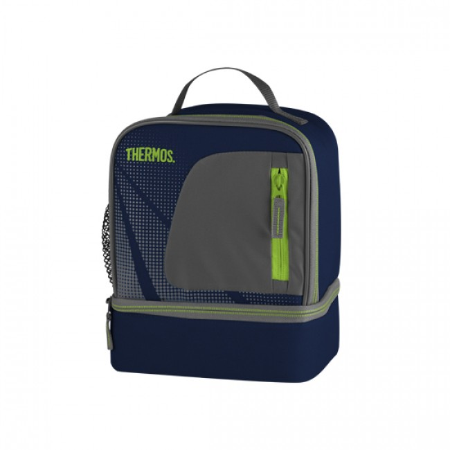 Insulated Dual Compartment Lunch Bag Blue Radiance Thermos