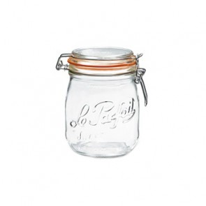 Glass canning jar 25oz / 0.75L with 85mm airtight gasket