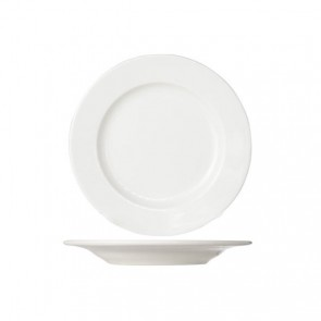 Round white cream dinner plate 24 cm high quality porcelain - Set of 6