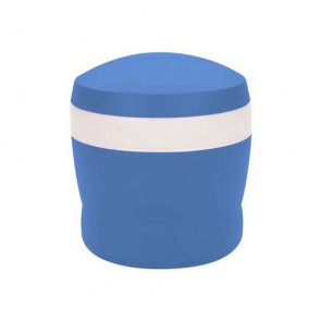 Insulated food jar with folding spoon 24cl / 8oz blue
