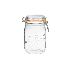 Glass canning jar 34oz / 1L with 85mm airtight gasket