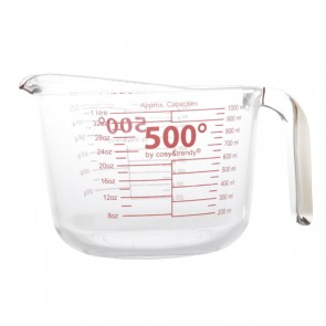 Glass measuring cup 1000ml / 34oz